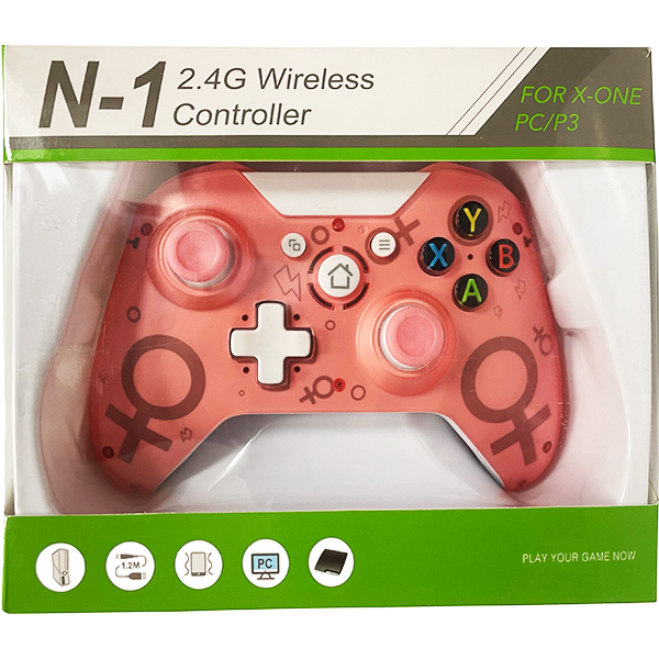 XBOX One / PC / PS3 Controller Wireless N-1 2.4G Pink