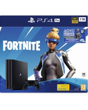 "PS4 Pro 1TB Edition Black с игрой ""Fortnite"" CUH-7208B"