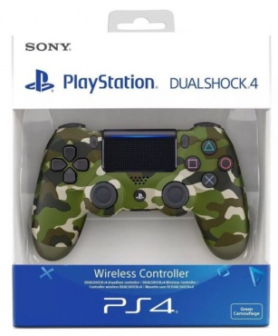 PS4 Dualshock 4 Wireless Controller V2 Green Camouflage
