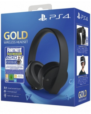 PS4 Гарнитура Wireless Stereo Headset Gold 7.1 Fortnite Neo Versa Bundle