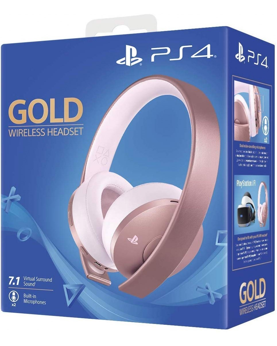 PS4 Гарнитура Wireless Stereo Headset Gold 7.1 Rose Gold