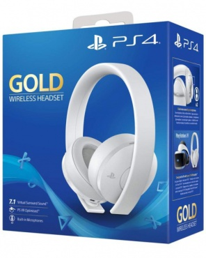 PS4 Гарнитура Wireless Stereo Headset Gold 7.1 (белые)