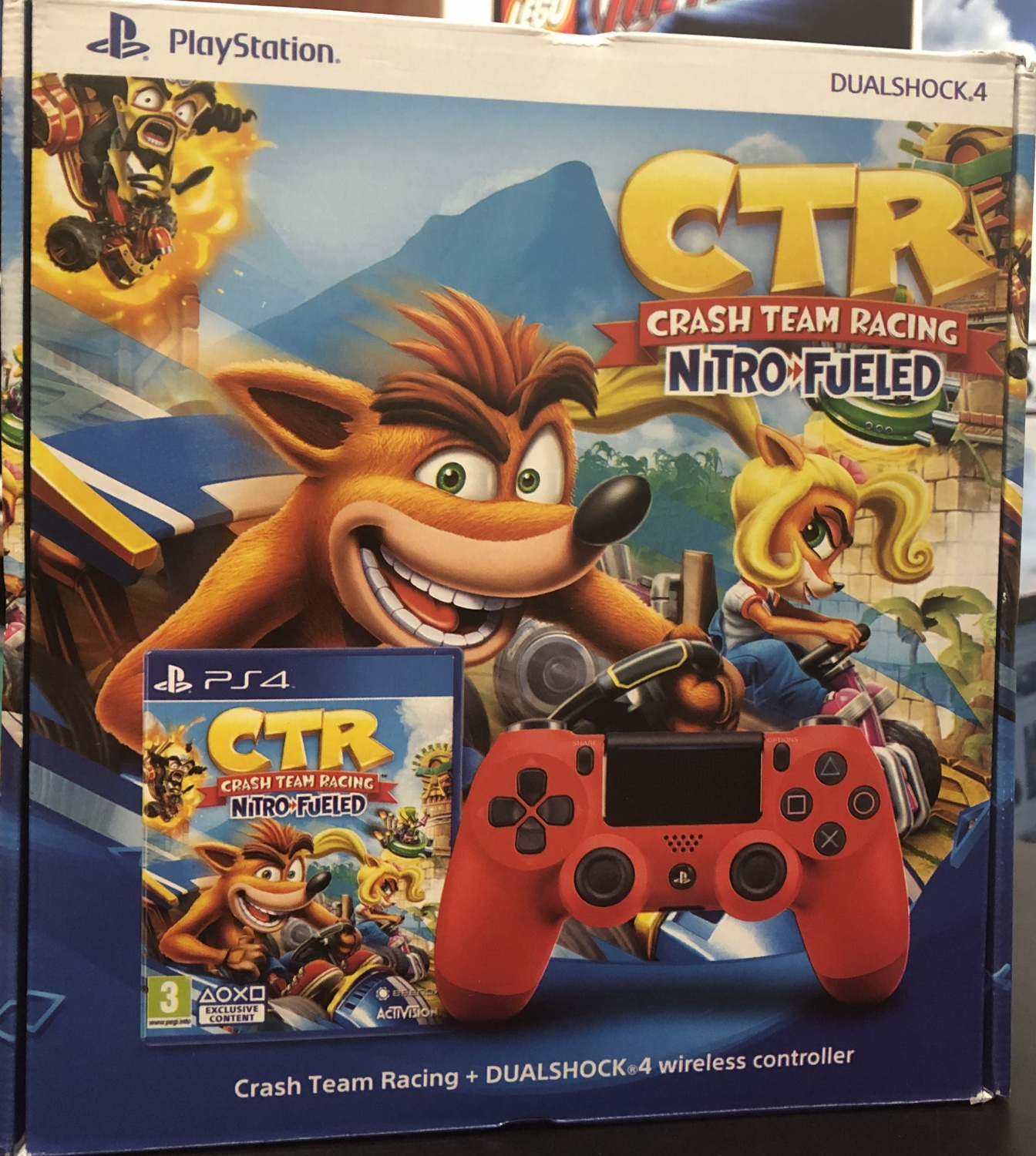 PS4 Crash Team Racing Nitro-Fueled + Dualshock V2 Magma Red